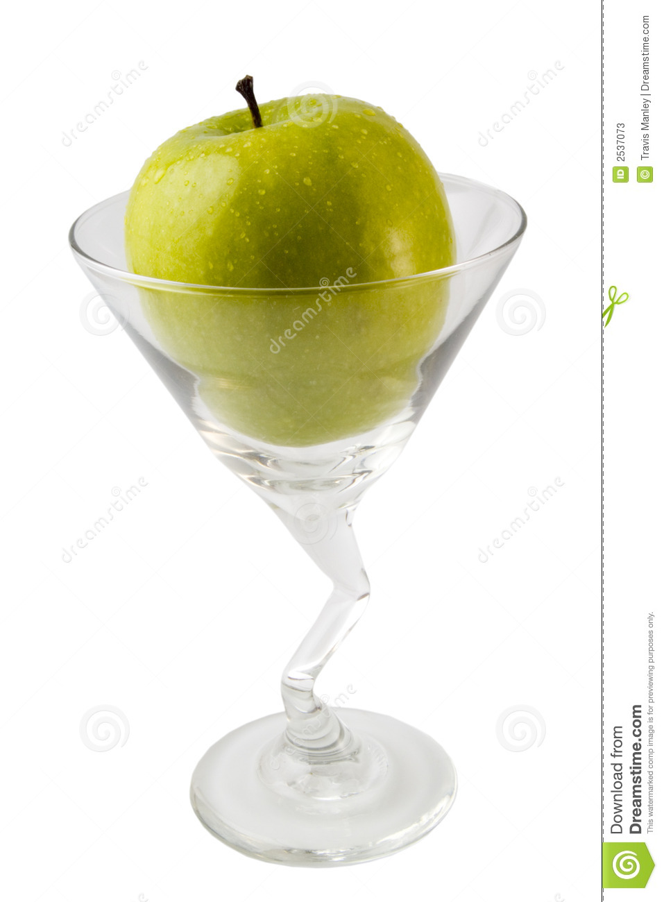 Green Apple Martini Stock Photos - Image: 2537073