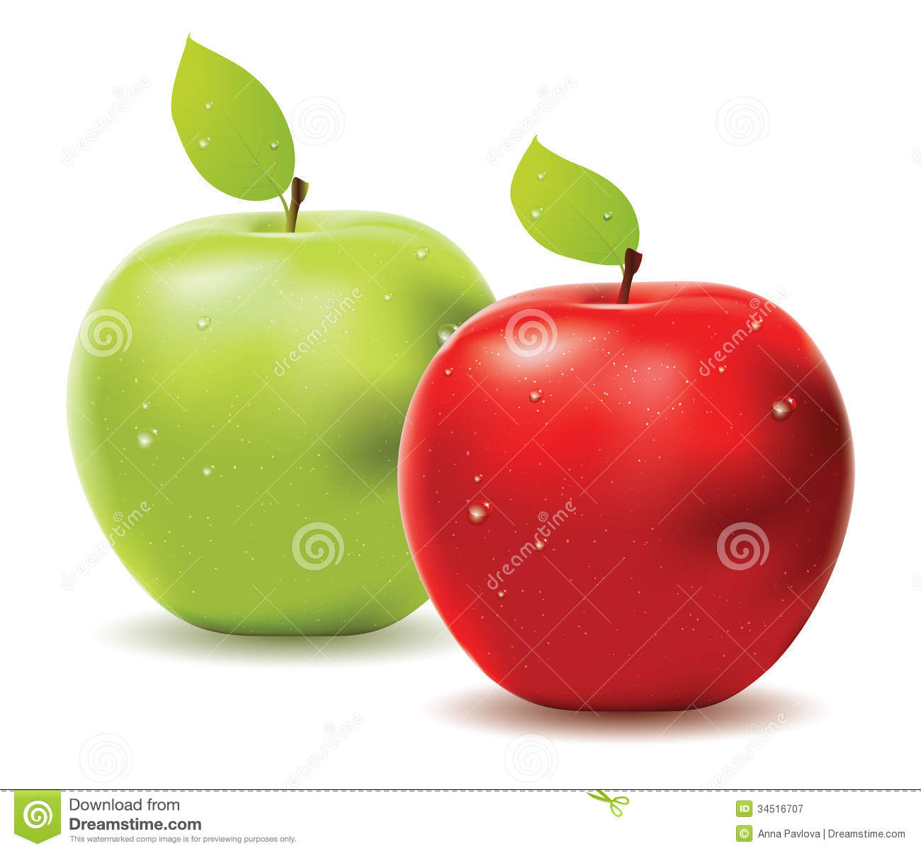 green and red apples. royalty-free stock photo. download green apple and red apples