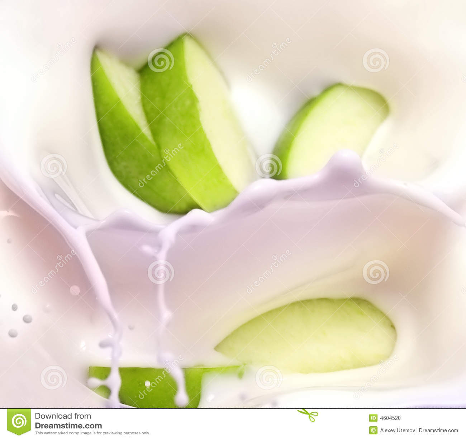 Apple Slices Splash Stock Image Cartoondealer Com 23071327
