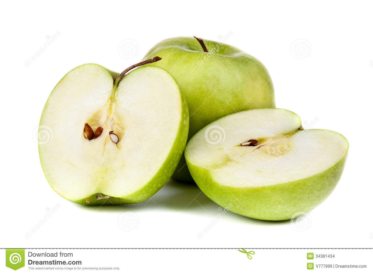 Green Apple Stock Images Image 34381434