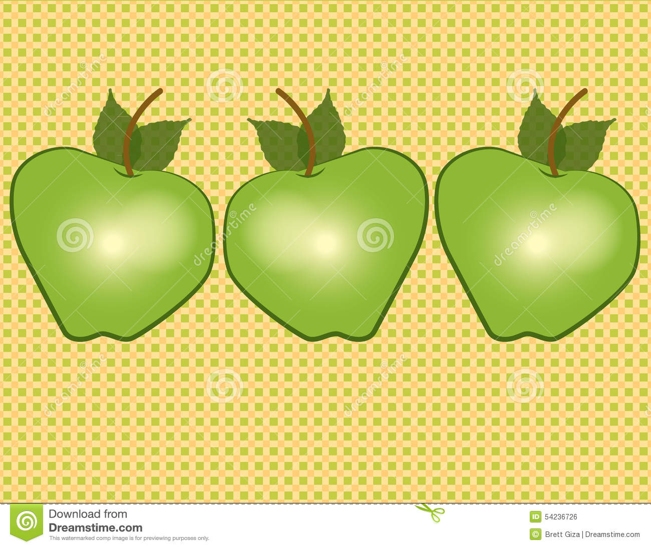 delicious green apple illustration - photo #15
