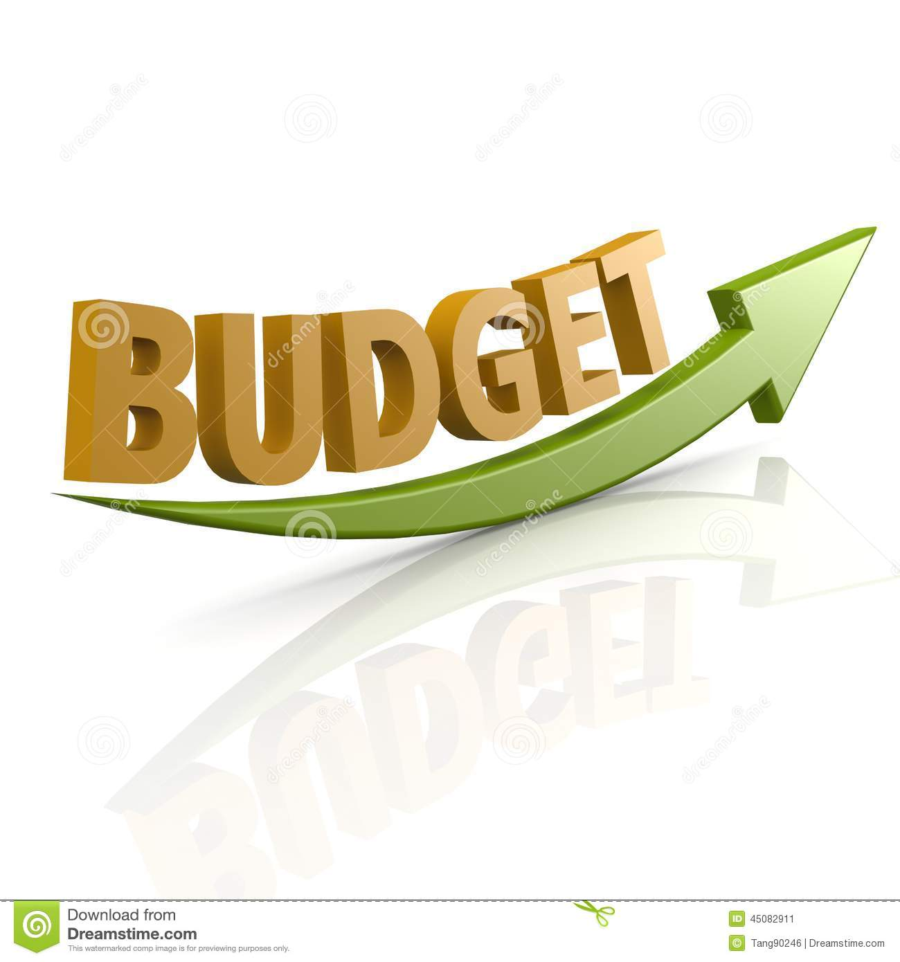green arrow with budget word stock illustration illustration of