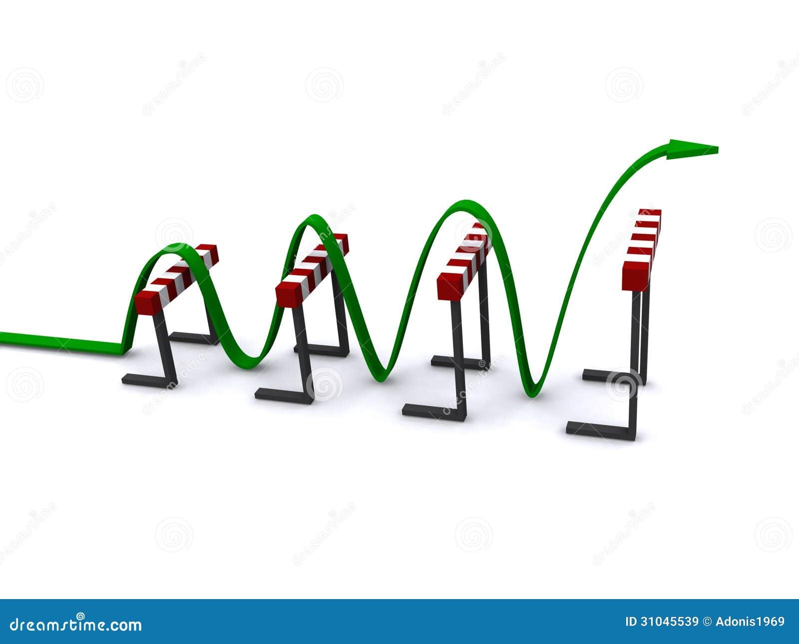 Green Arrow Jumping Over Hurdles Royalty Free Stock Images - Image ...