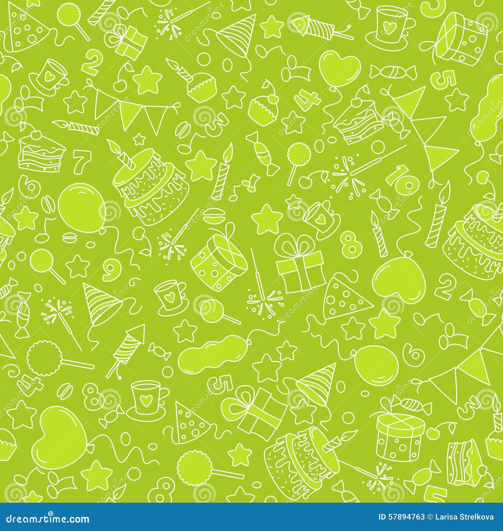 Green Background Birthday Stock Vector Illustration Of