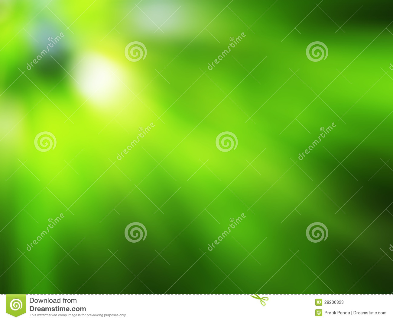Green background with blurred rays