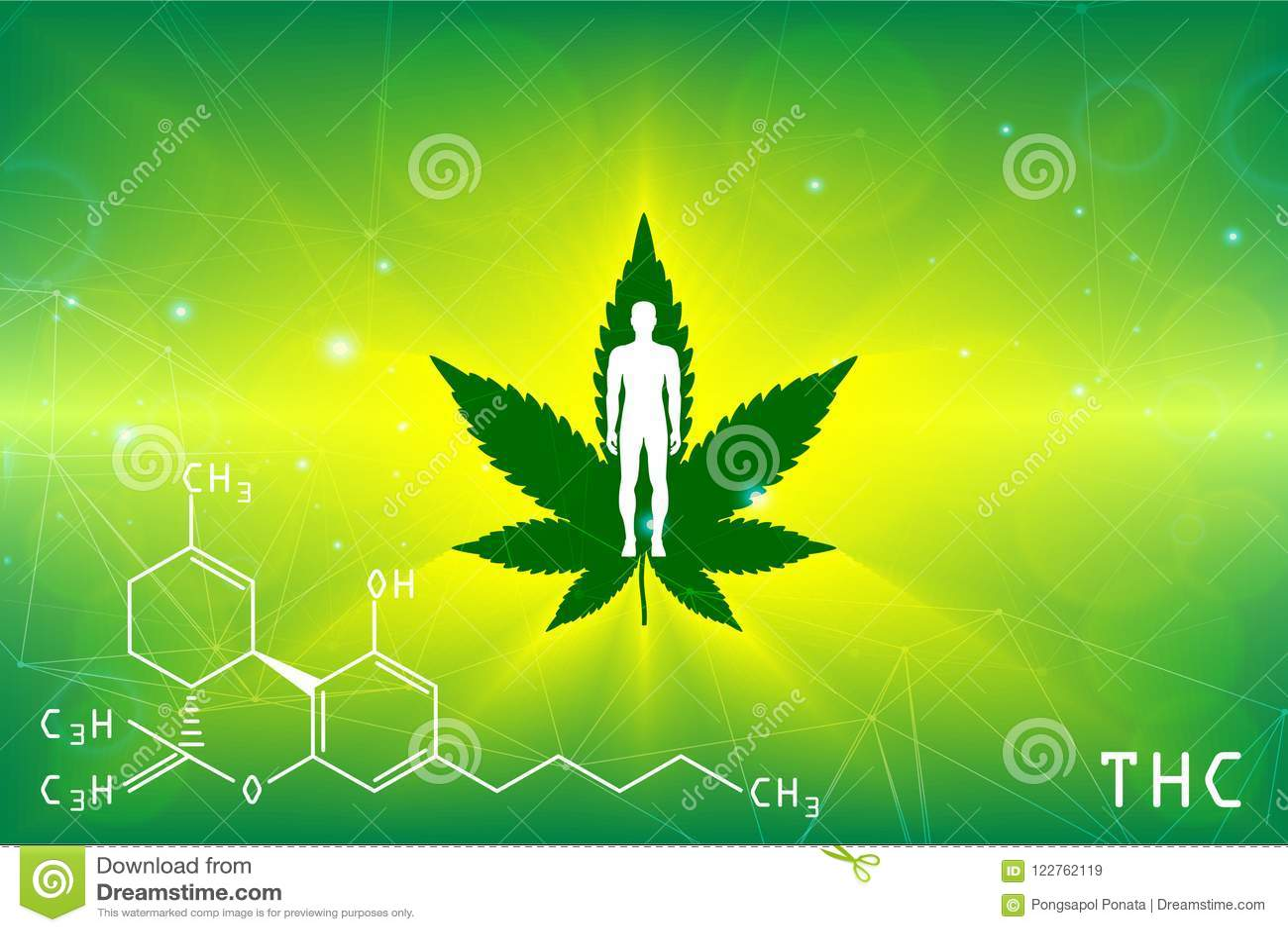 Green Background  Cannabis Marijuana In Medical  Stock