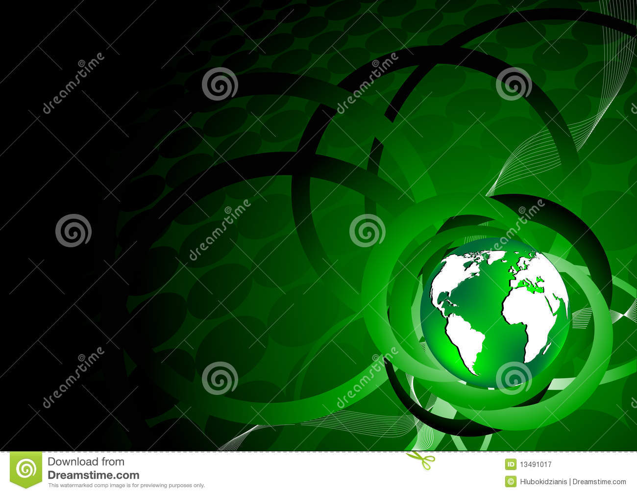 Green Background With Earth Royalty Free Stock Photography ...