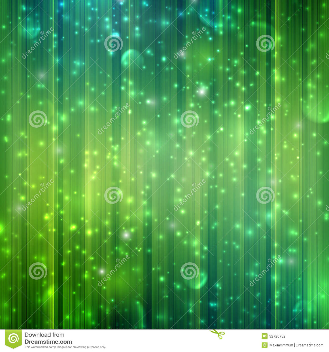 Green Background With Sparkles Stock Photography Image