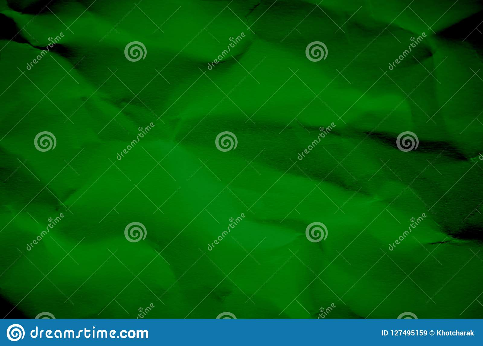 Green Background And Wallpaper By Crumpled Paper Texture And