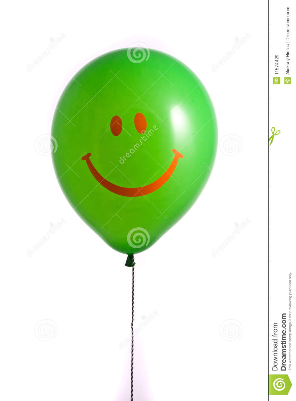 Green balloon with smile royalty free stock images image 11574429
