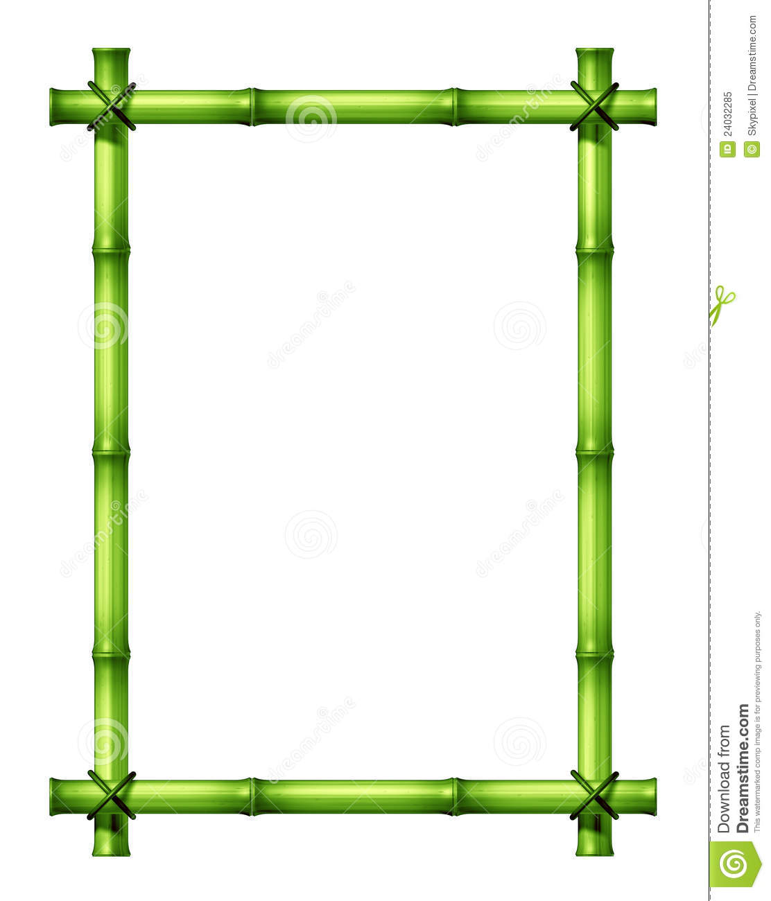Green Bamboo Frame stock illustration. Illustration of tropics ...