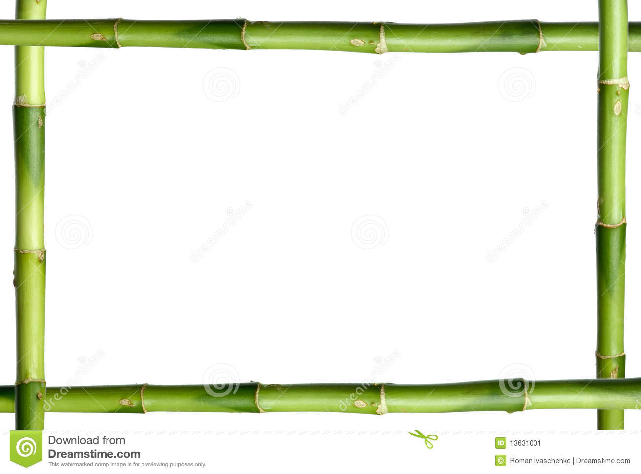 Green bamboo stick frame stock image. Image of plant - 13631001