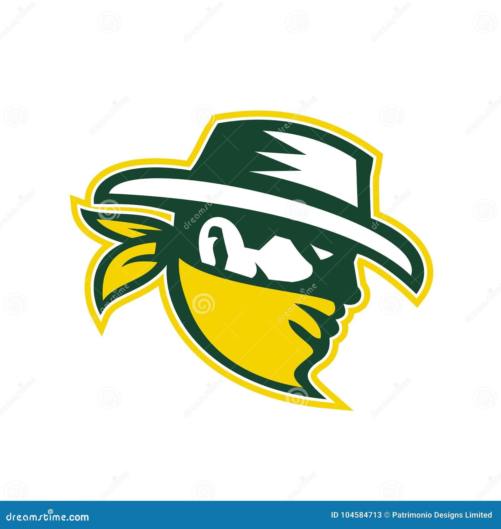 3a816621ec6 Green Bandit Mascot stock vector. Illustration of icon - 104584713