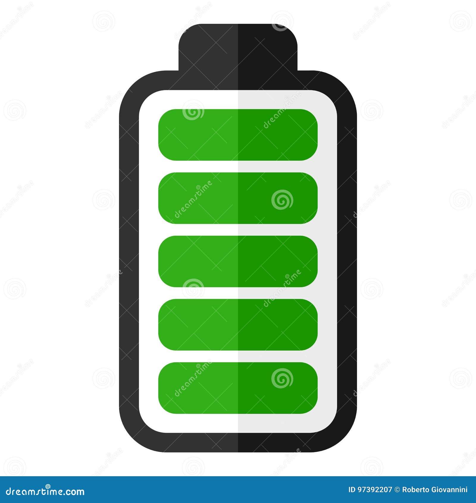 Green Battery Energy Indicator Flat Icon