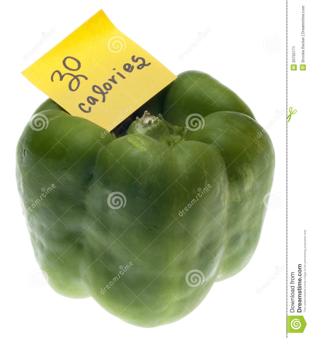 green bell pepper with 30 calories stock image - image of