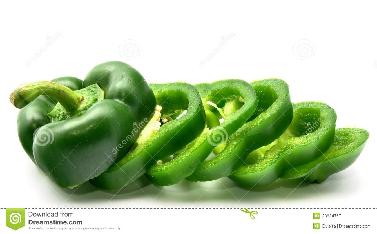 green bell pepper sliced royalty free stock photography