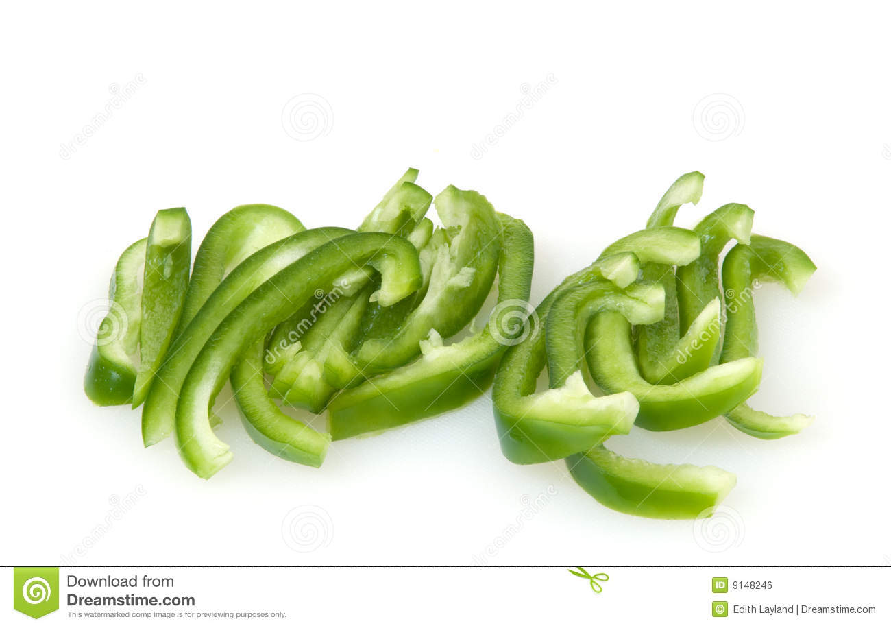 Green Bell Pepper Slices stock photo. Image of indoor ...