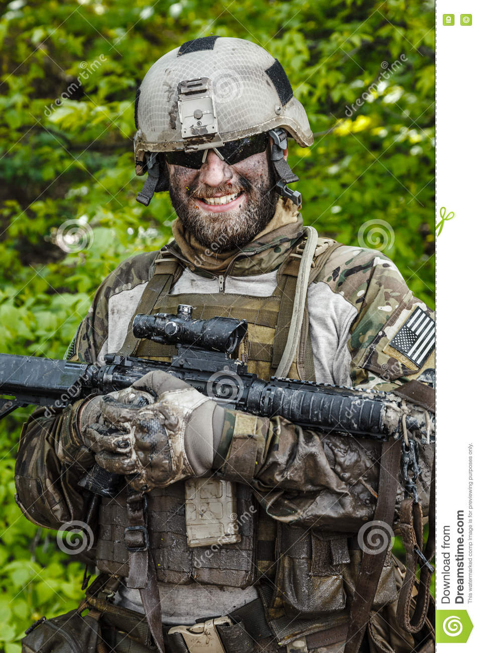Green Beret In Action Stock Photo - Image: 75155971