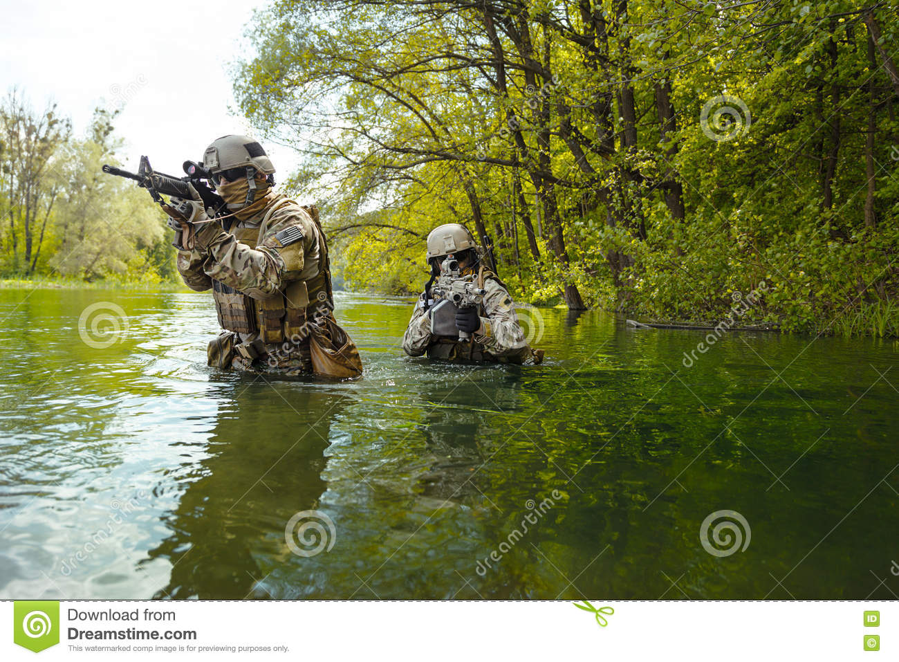 Green Berets Soldiers In Action Stock Photo - Image of