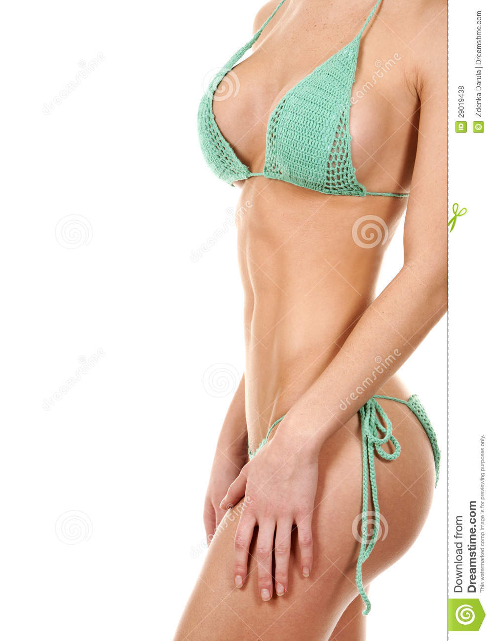 Green Bikini Royalty Free Stock Photos - Image: 29019438