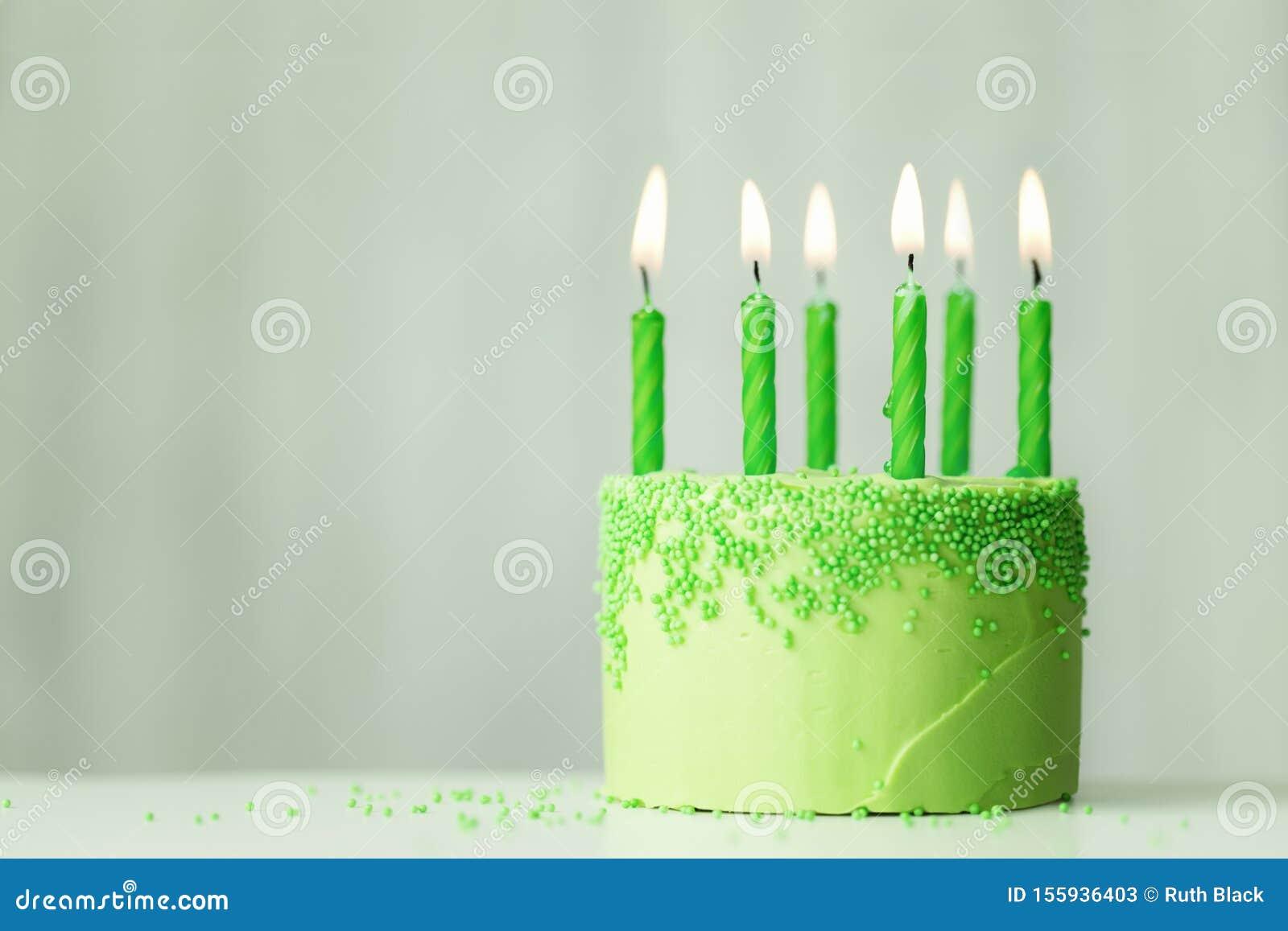 Swell Green Birthday Cake Stock Image Image Of Green Copyspace 155936403 Personalised Birthday Cards Veneteletsinfo