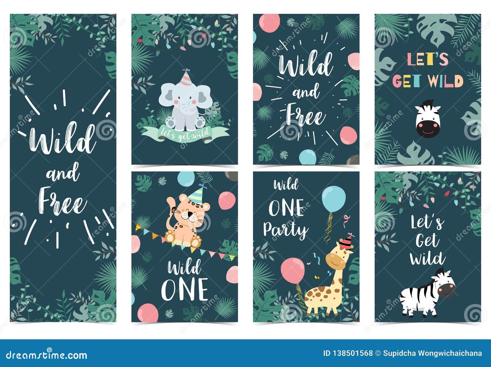 Prime Green Birthday Card With Tiger Monkey Giraffe Zebra Cake Leaf Funny Birthday Cards Online Sheoxdamsfinfo