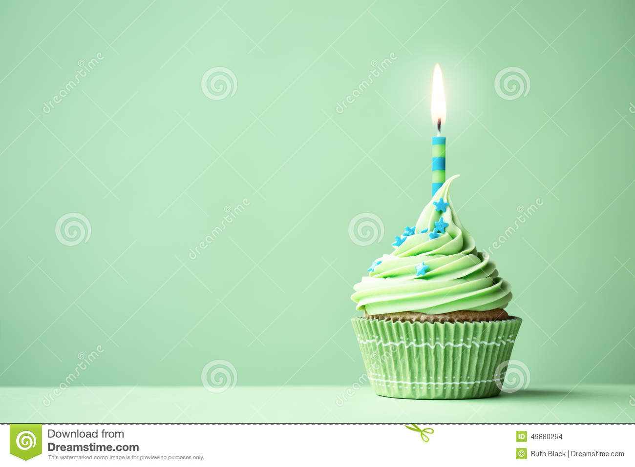 green birthday cupcake stock photo image 49880264 Black and Whiteclipart Cupcake Free Download Cute Cupcake Clip Art