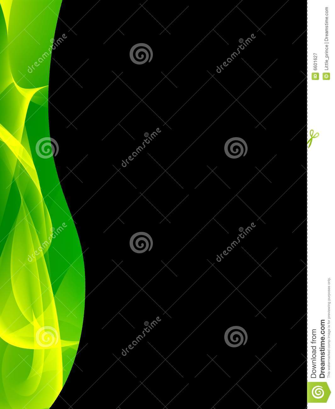 Green and black abstract background