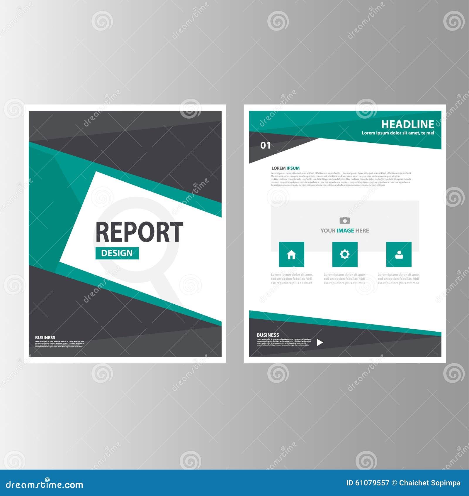 Green Black Abstract Brochure Report Flyer Magazine Presentation ...