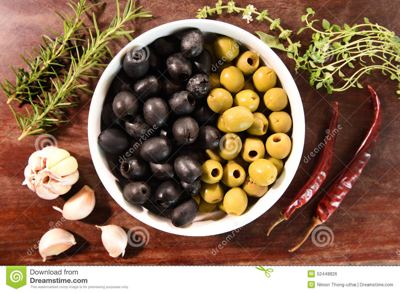green and black olives in white bowl ingredients for pizza stock photo image 52448826. Black Bedroom Furniture Sets. Home Design Ideas