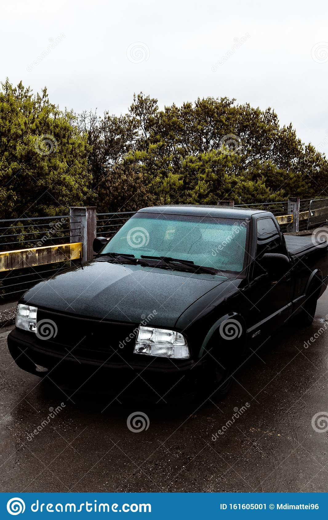 Pick Up Truck Simple Outdoor Parking Garage Portrait Stock Image Image Of Background Pick 161605001