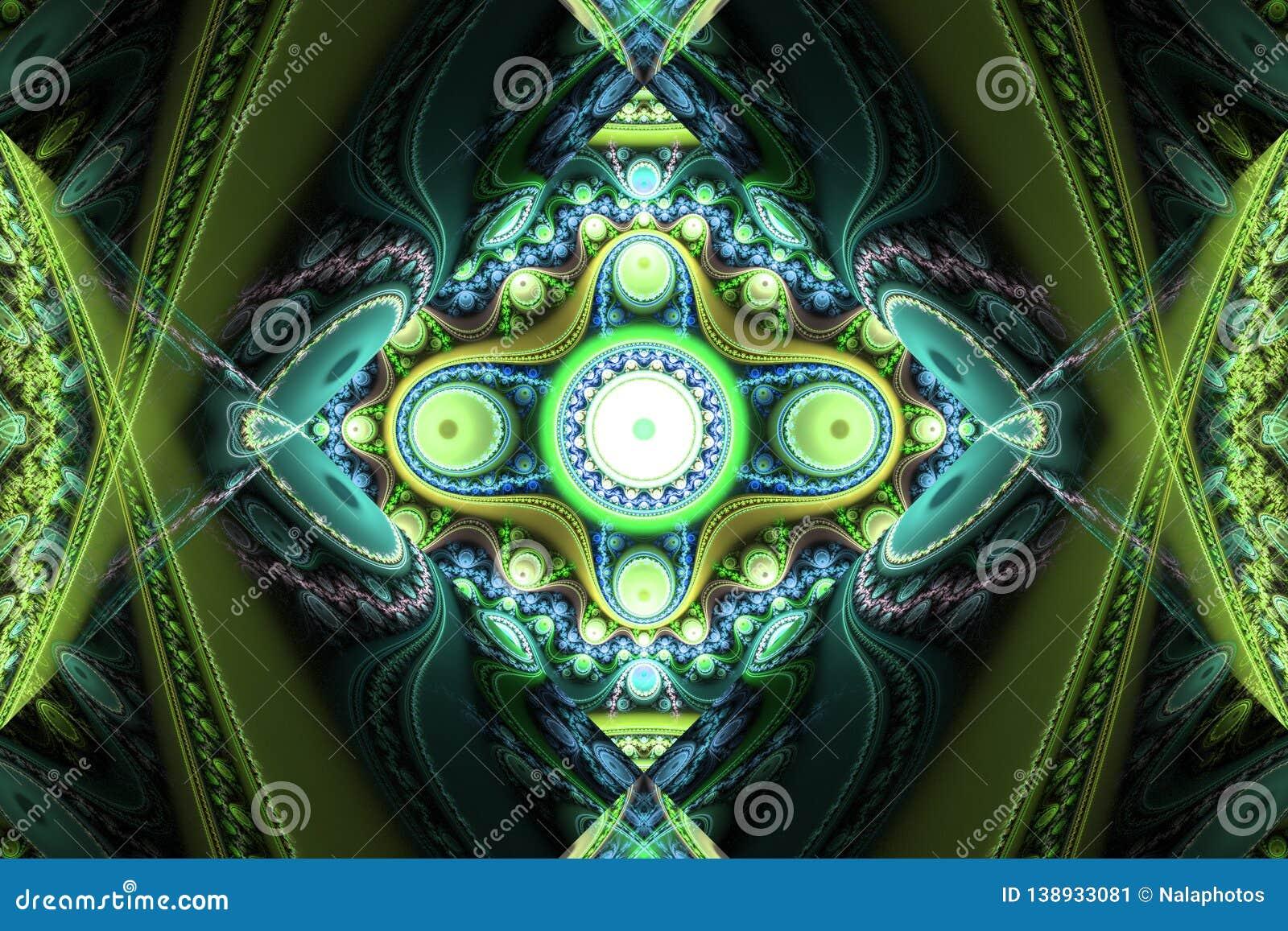 Green black waves fractal fraktal wallpaper background animated geometric shapes pattern