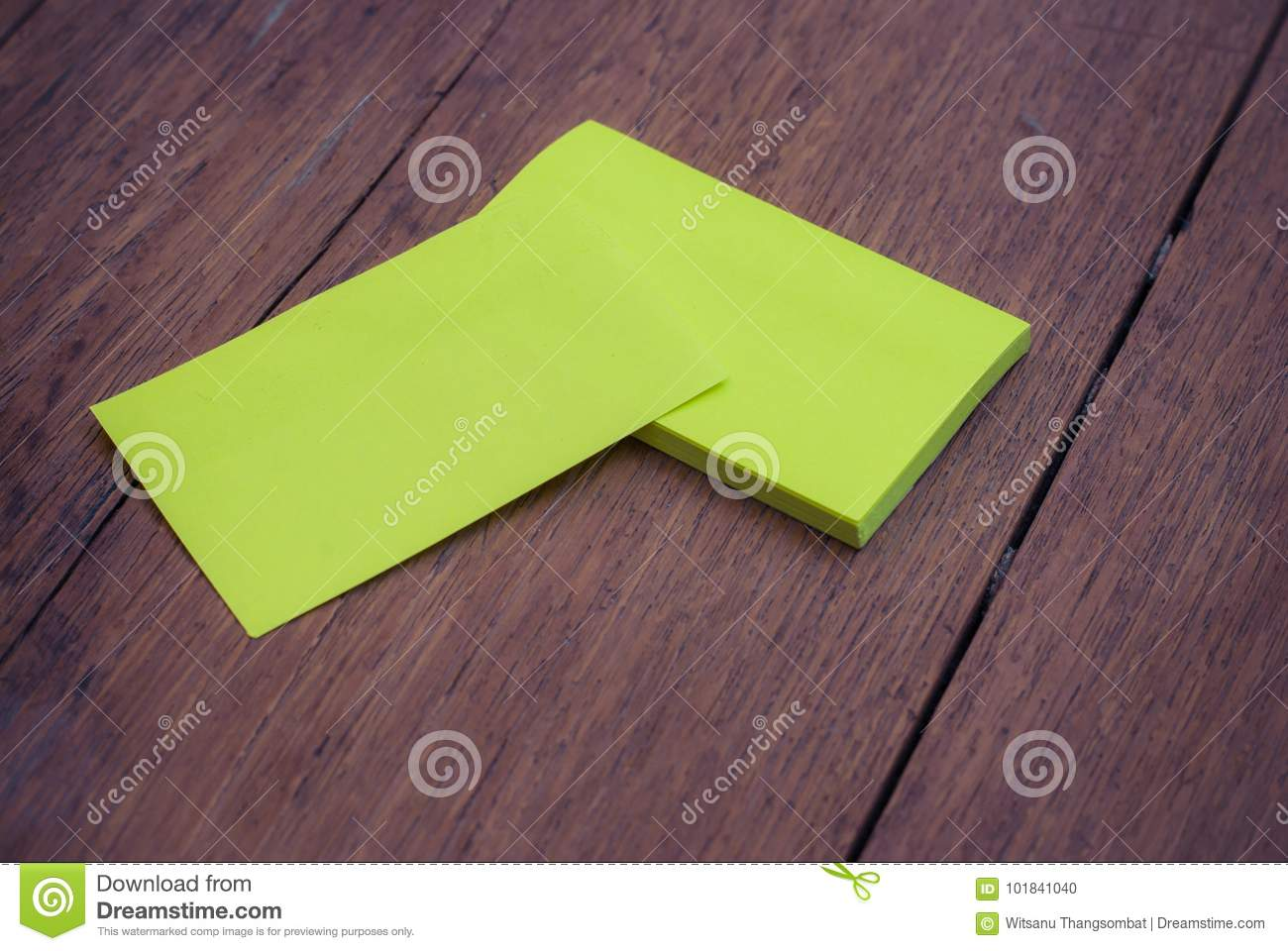Green blank business card mock up template on wood stock photo download comp reheart Images