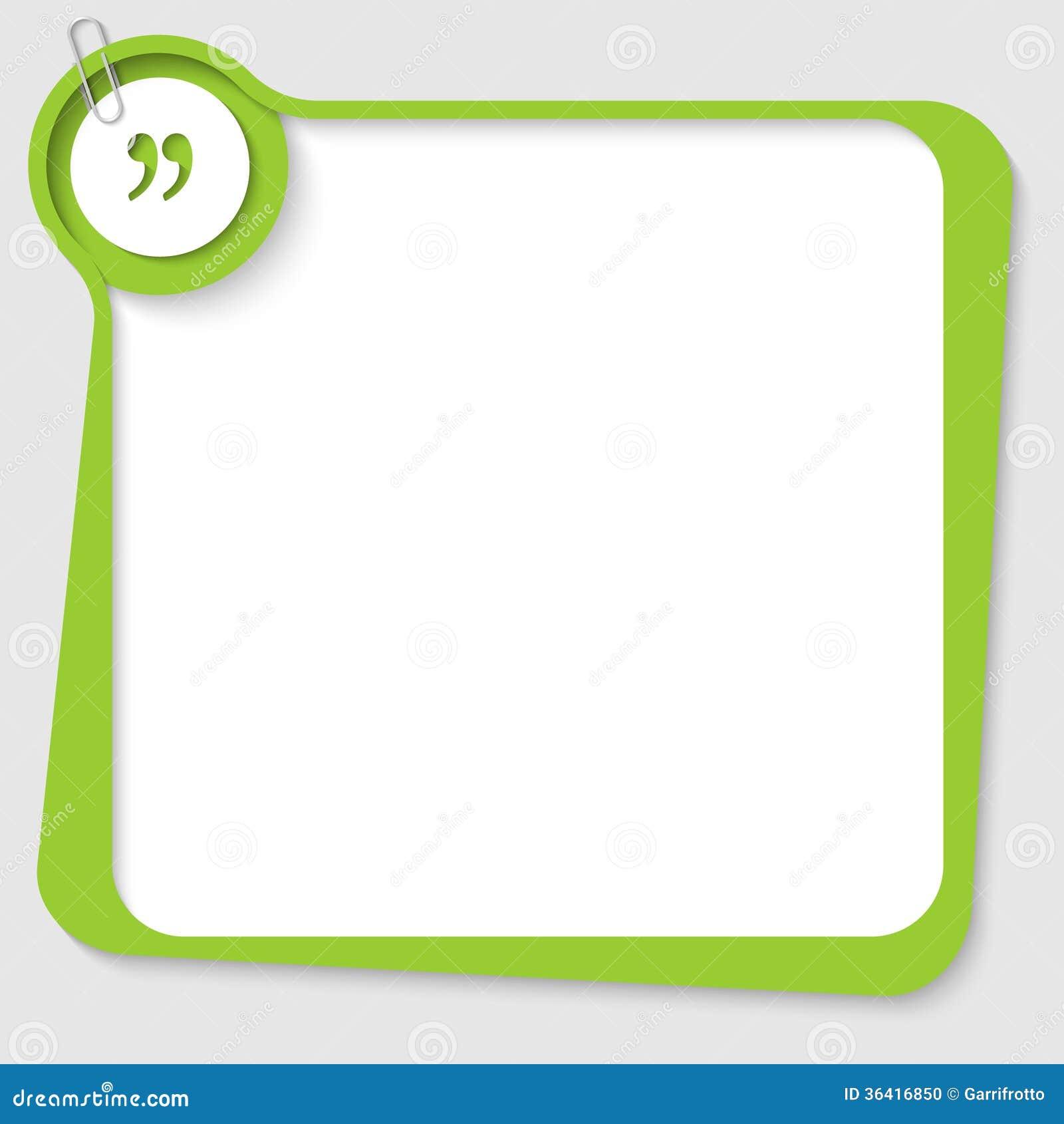Green blank text box