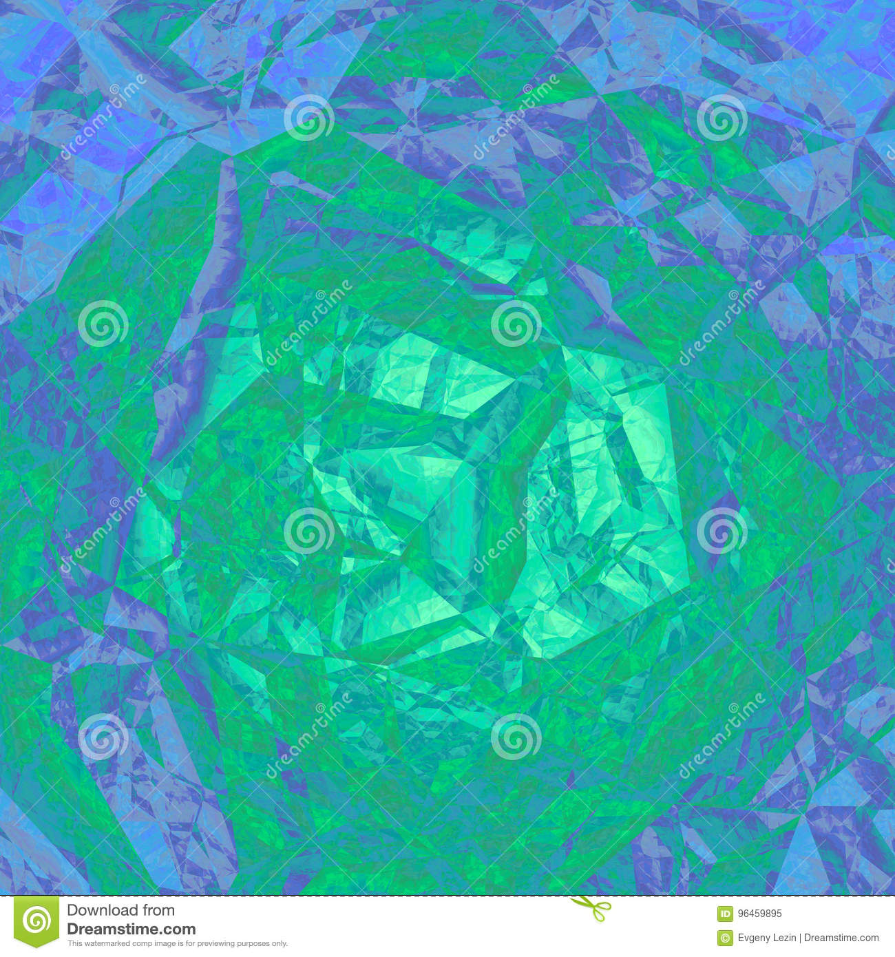 green blue abstract geometrical background design graphic stock