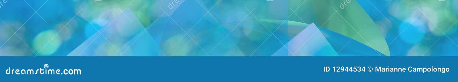 Green blue aqua abstract panorama web banner