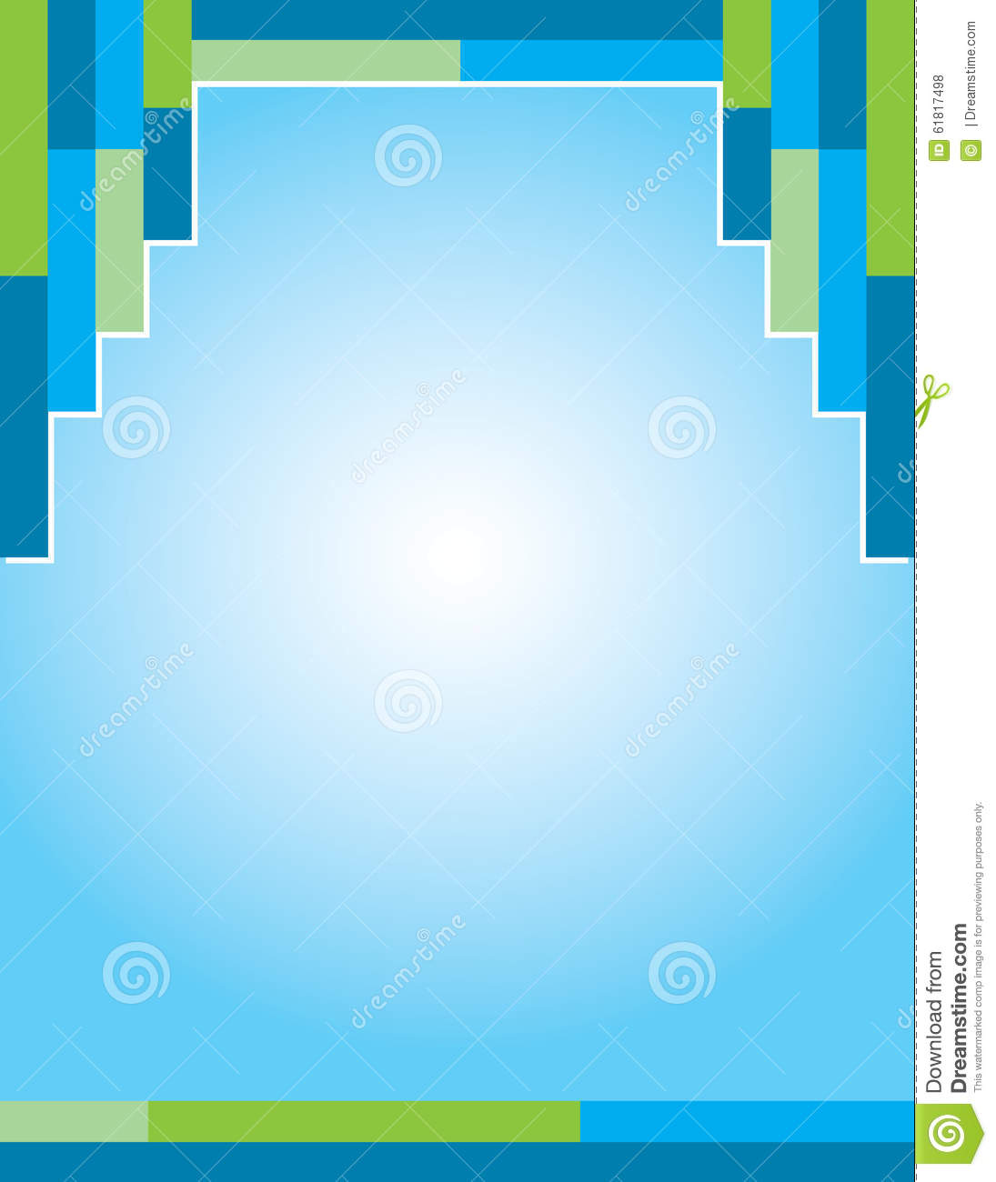 Green Blue Brochure Background Stock Illustration Image