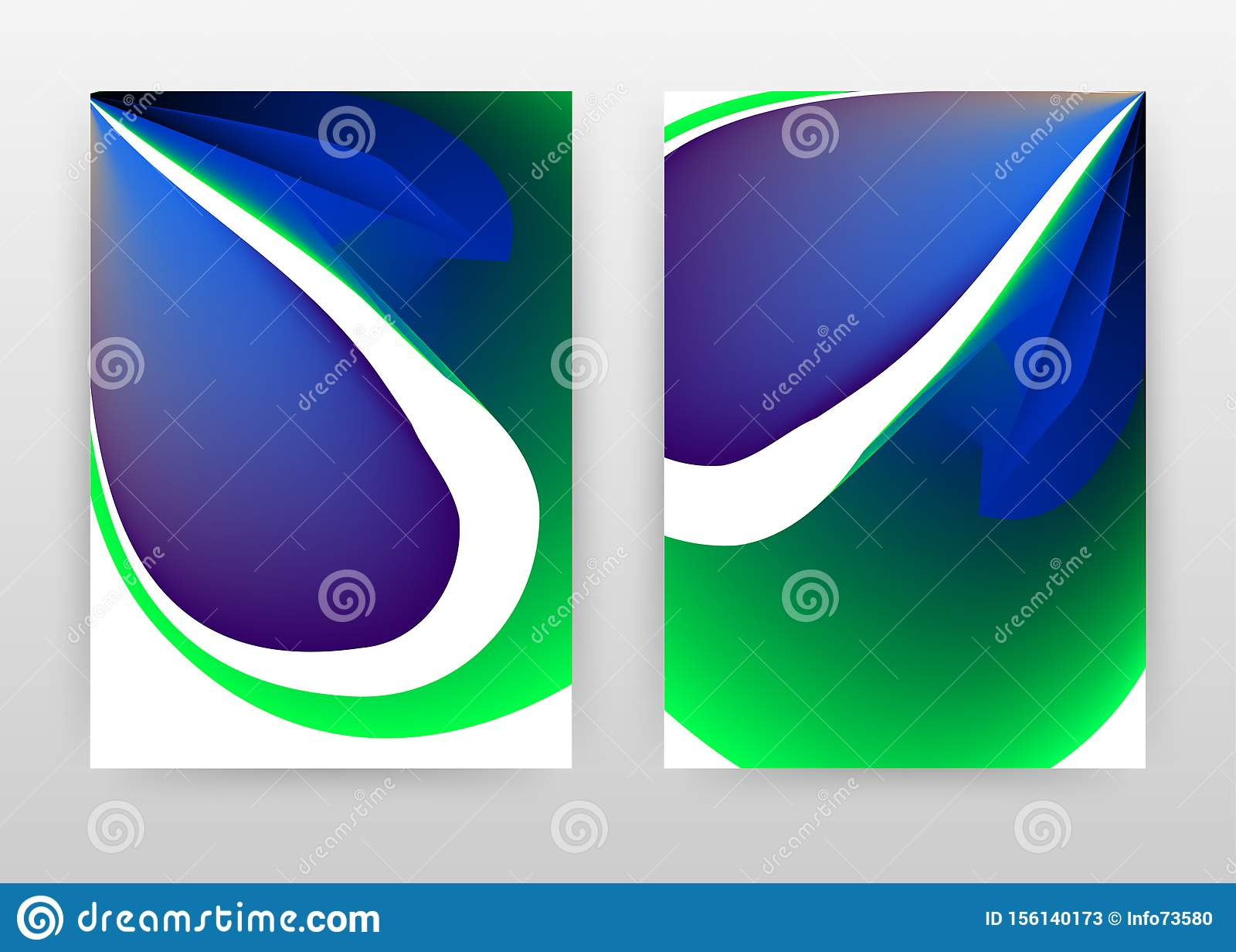 Green blue concept. abstract design of annual report, brochure, flyer, poster. Colorful concept background vector illustration for