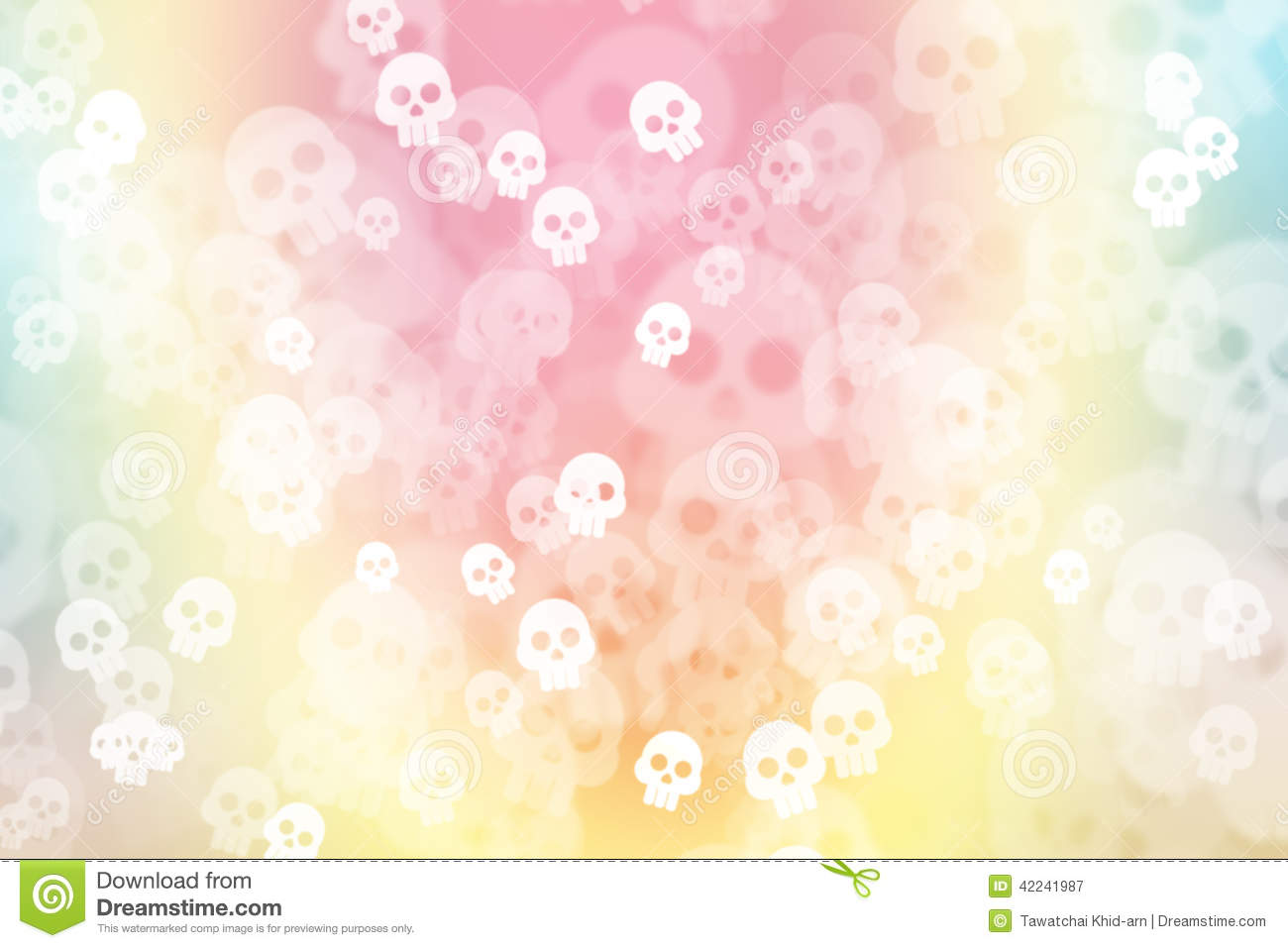 green blue and pink pastel colorful background with skull stock illustration image 42241987. Black Bedroom Furniture Sets. Home Design Ideas