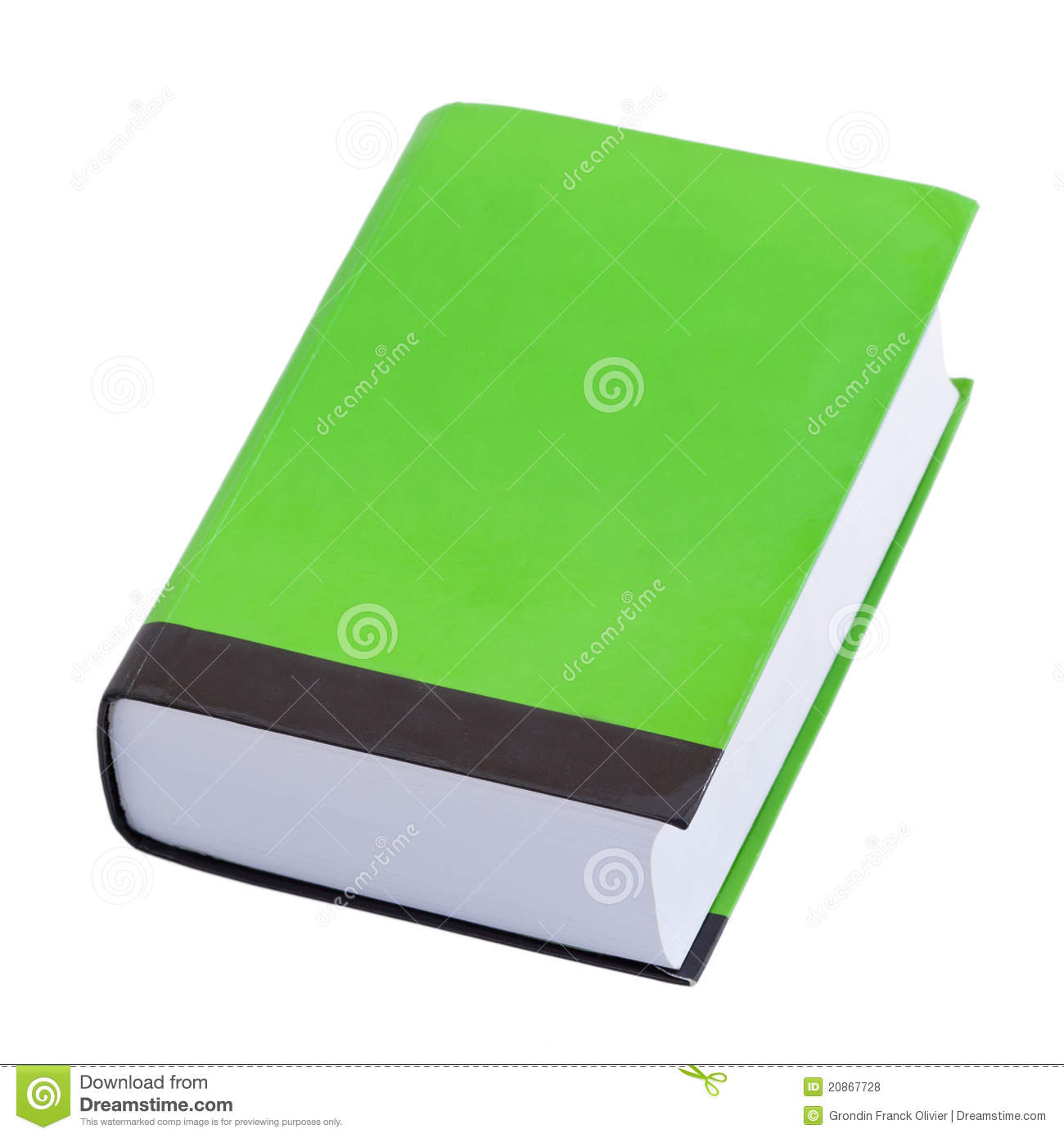 Cookbook With Green Cover : Green book with blank cover royalty free stock photos