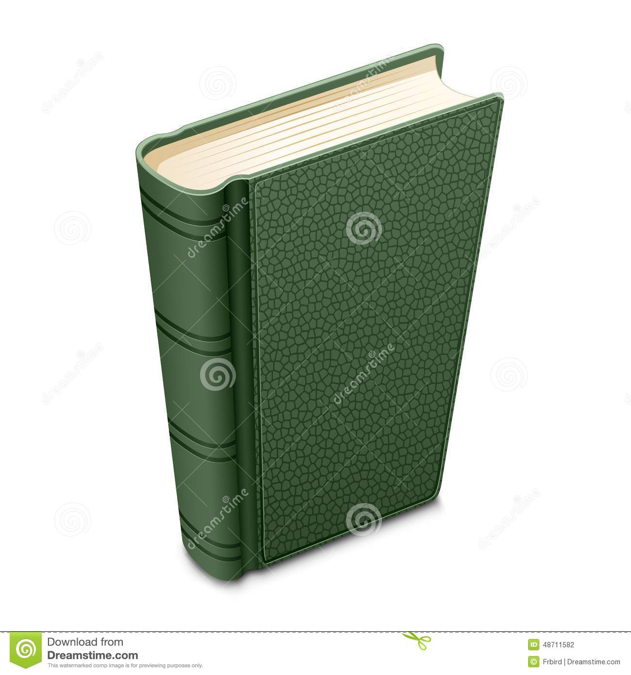 Cookbook With Green Cover : Green book stock vector image