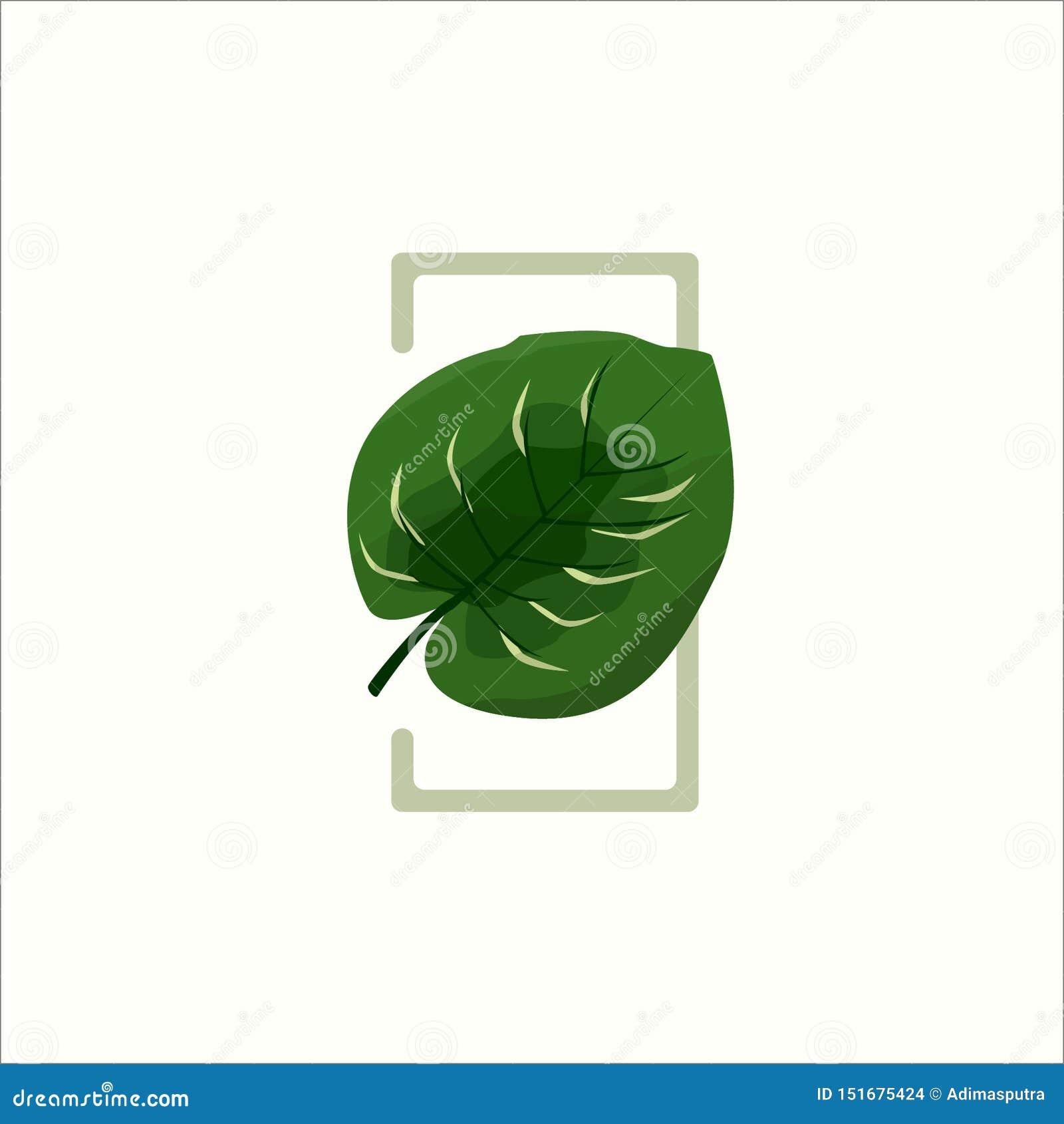 Green Botanical Keladi Leaf