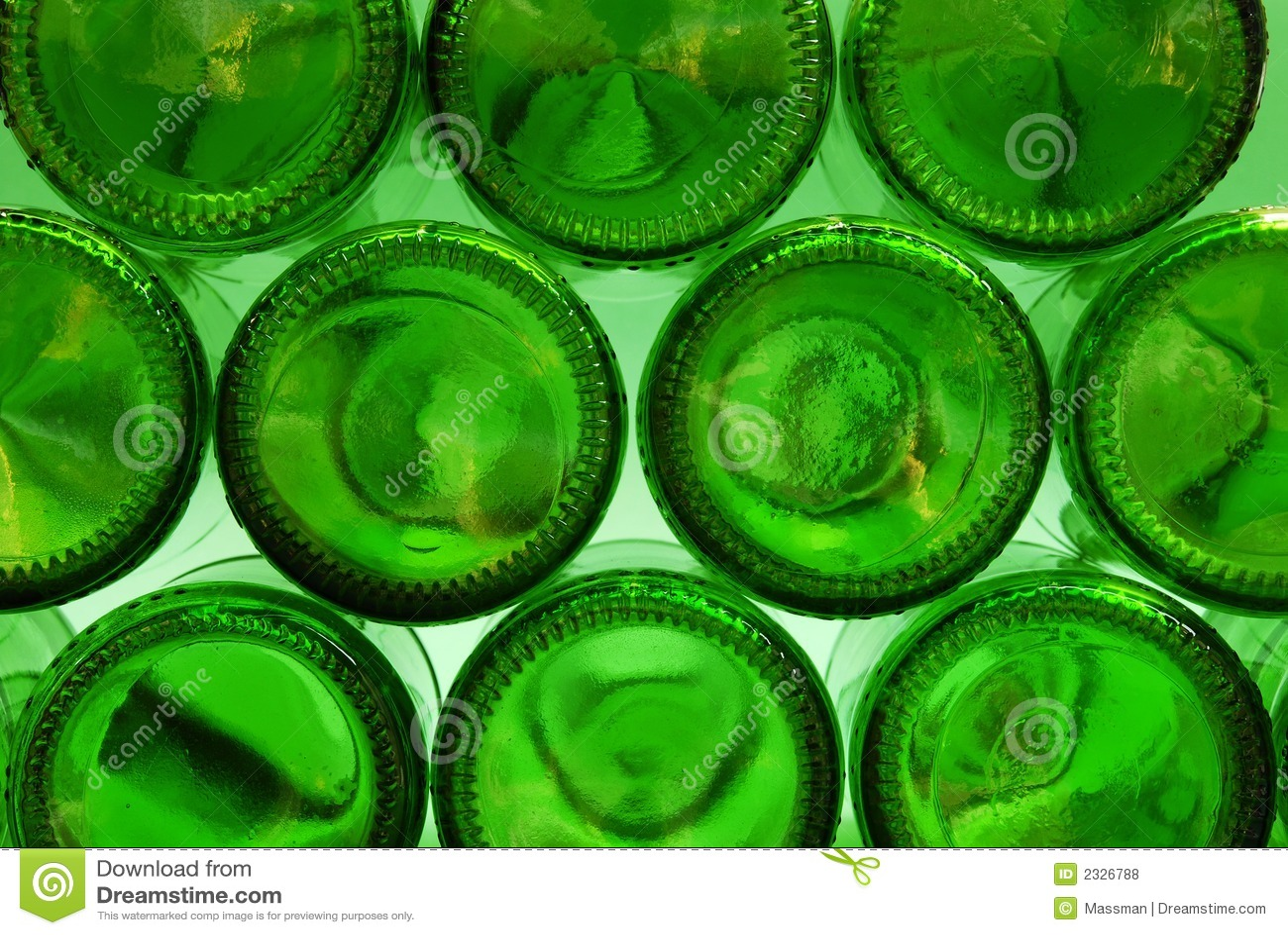 Green bottle bottoms stock photo image of circles empty for How to break bottom of glass bottle