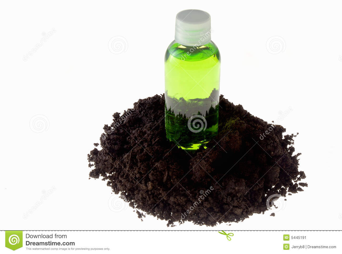 Green bottle and soil stock image image 5445191 for Soil and green