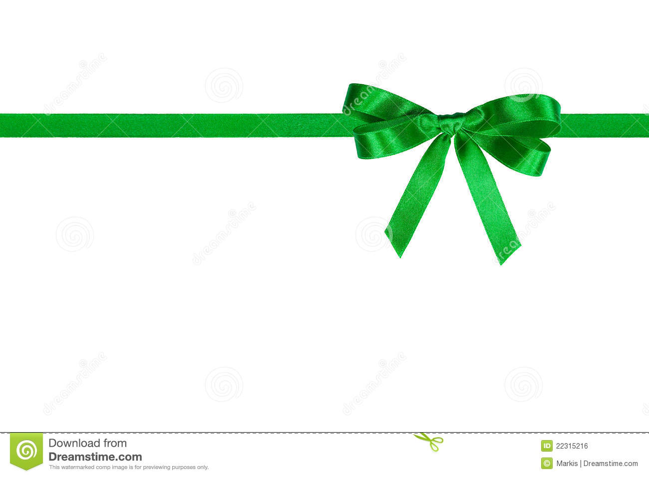 Green Bow. Royalty Free Stock Image - Image: 22315216