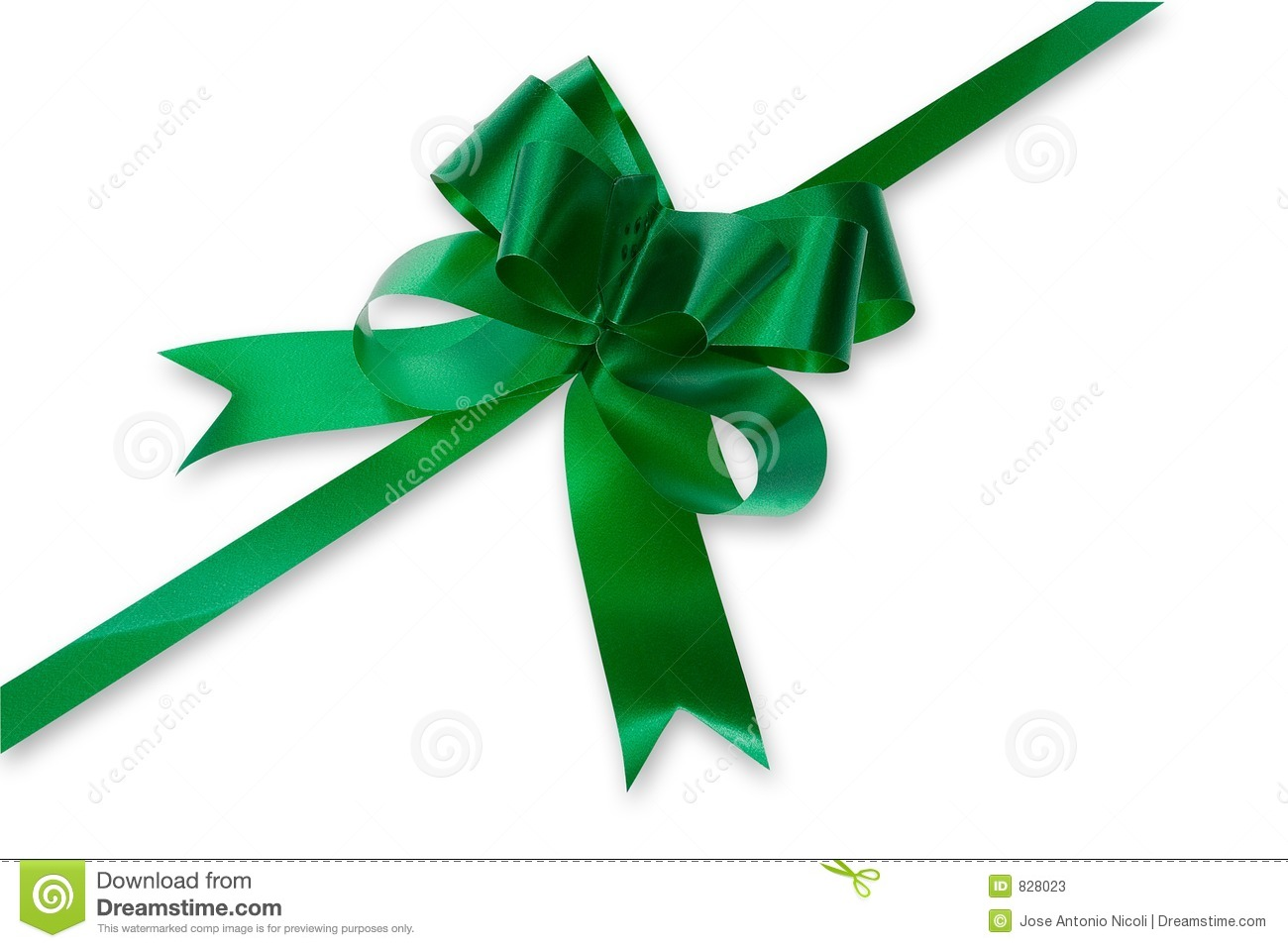 Green Christmas Bow Background Graphics: Green Bow Stock Photos