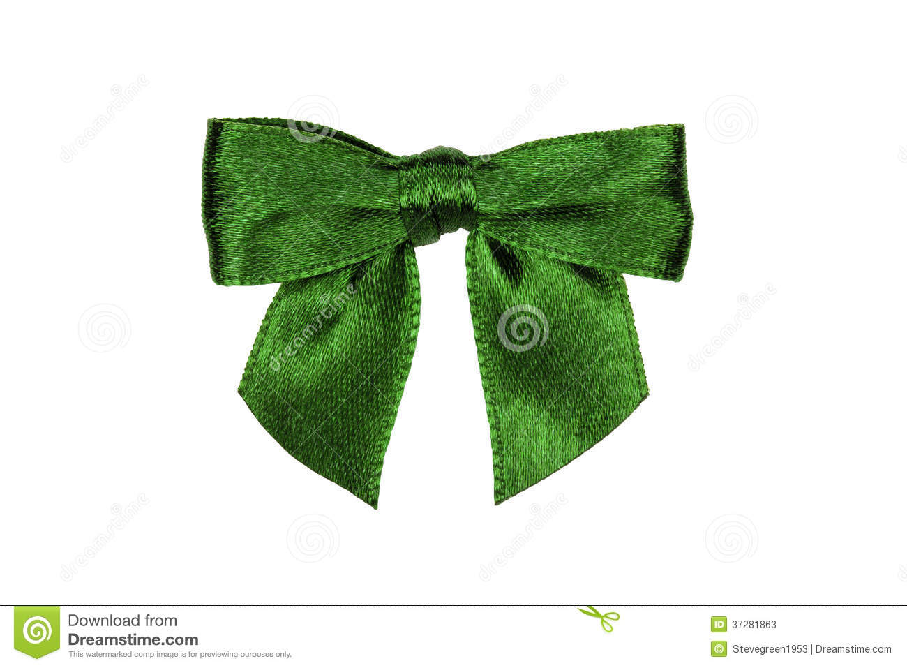 Green Bow Isolated On White Stock Photos Image 37281863