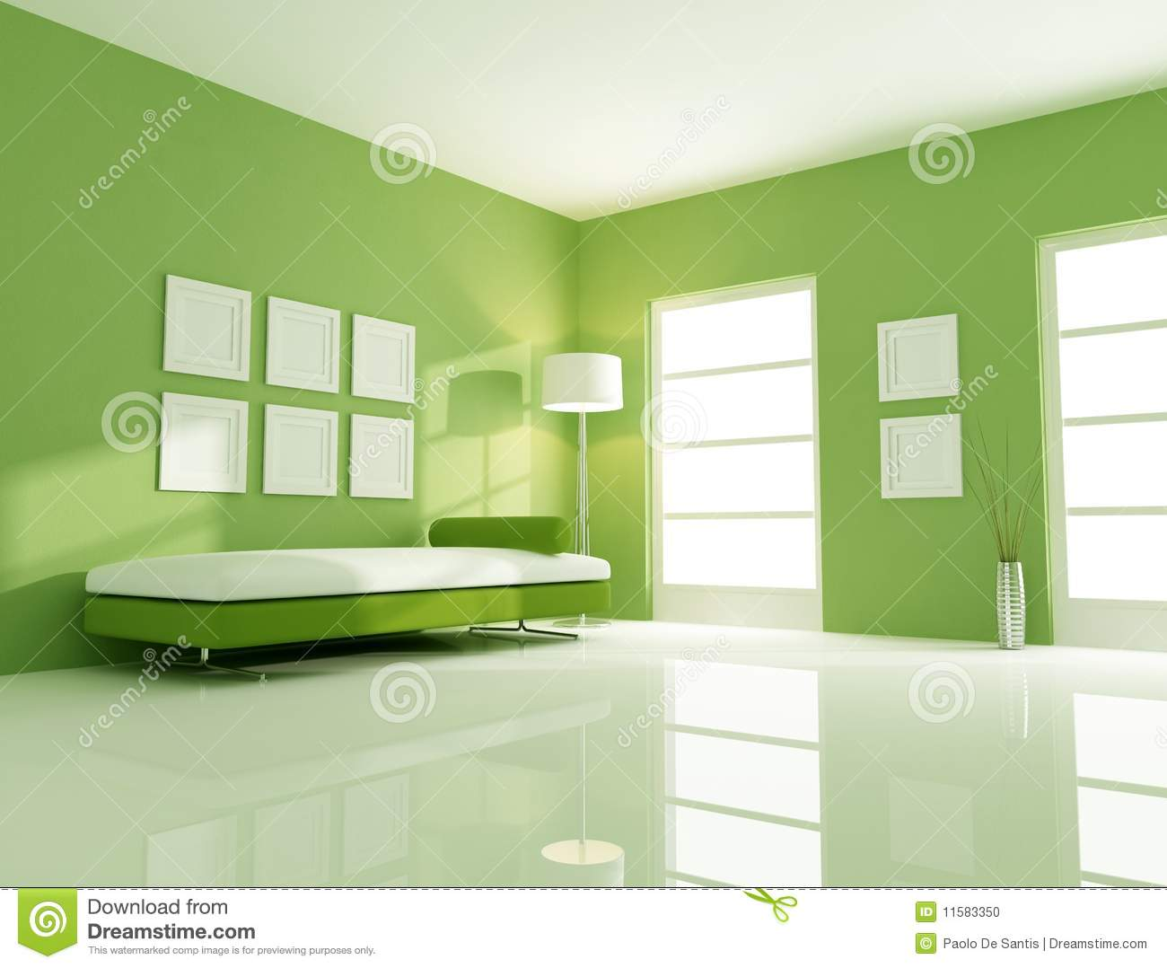 green bright room stock photo image 11583350