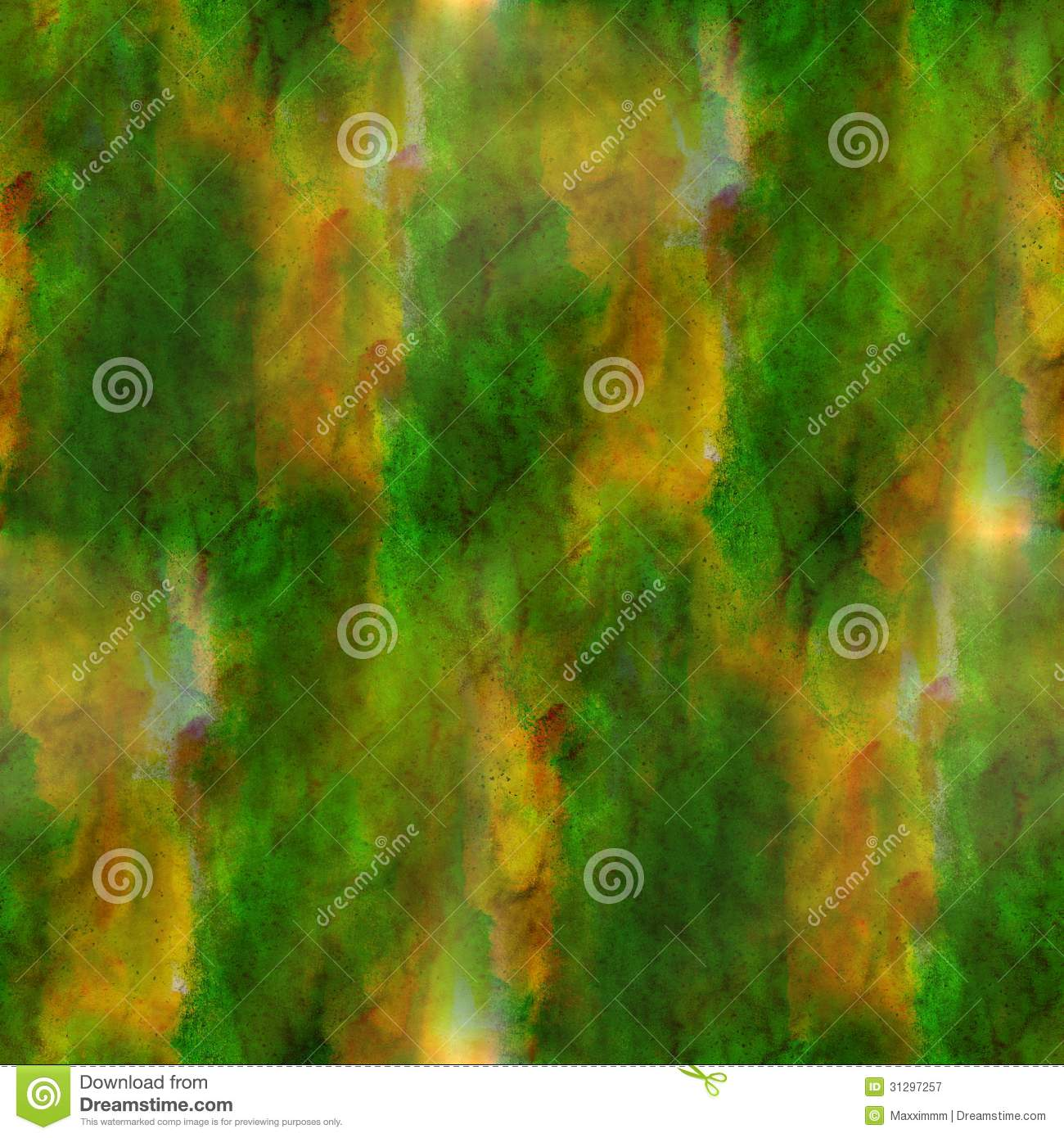 Green, brown background texture watercolor seamless abstract pattern ...
