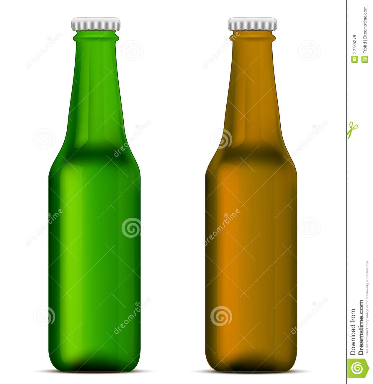 Green and brown beer bottles royalty free stock photos image